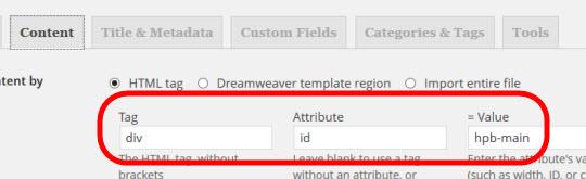hpb-mainのdiv領域のみをインポートする