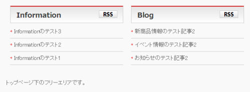 InformationとBlogから日付とカテゴリーを削除