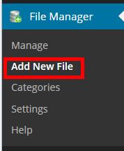 ダウンロードファイルの新規追加
