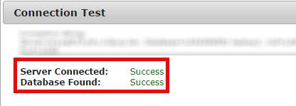 データベース接続のテスト