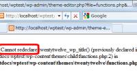 functions.phpの編集後に画面が真っ白になる