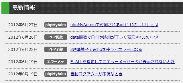 index.phpを修正して抜粋を消す