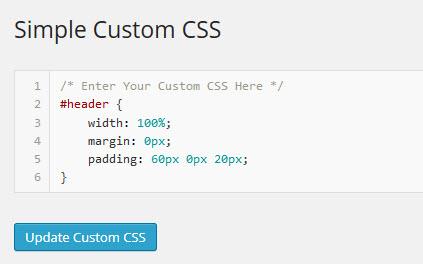 Simple Custom CSSでCSSをカスタマイズ