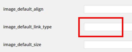 リンク先の初期設定を「なし」に変更