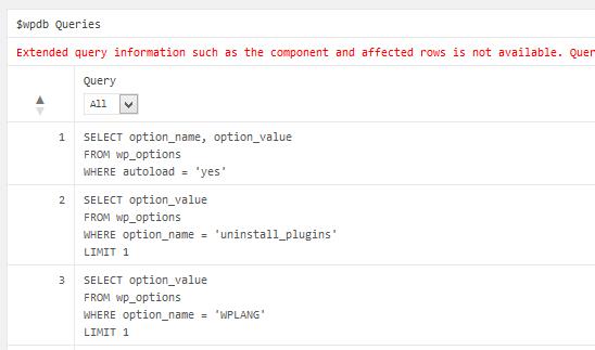 実行されたSQL情報