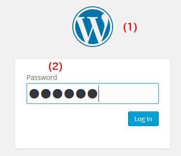 表示されるパスワード入力画面