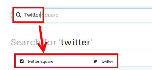 Twitterアイコンの検索