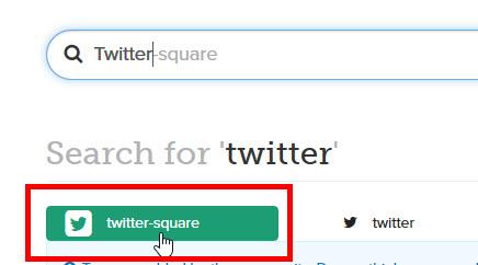 「twitter-square」をクリック