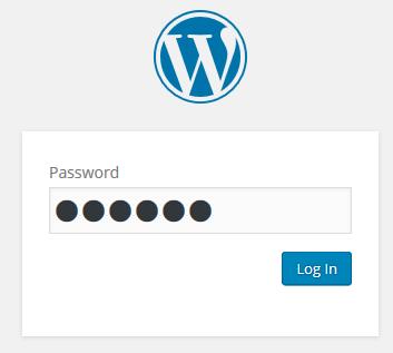 サイトを閲覧するにはパスワード入力が必要