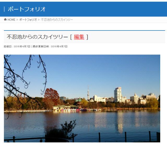 画像クリックで表示されるポートフォリオの詳細ページ