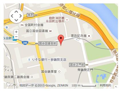 表示されるGoogleマップの例