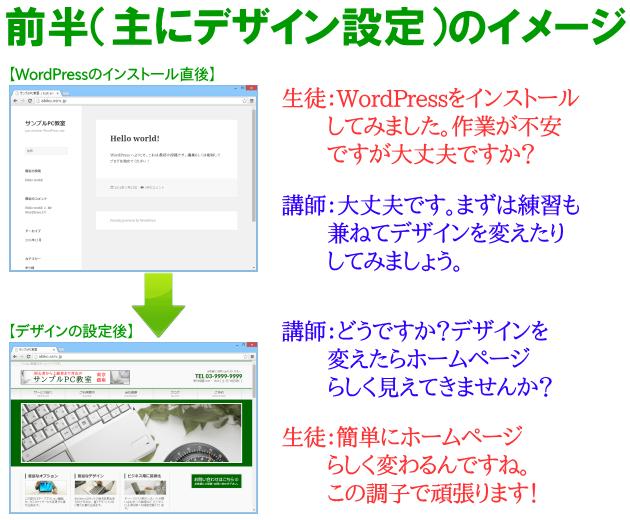 ホームページ作成講座(デザイン設定)