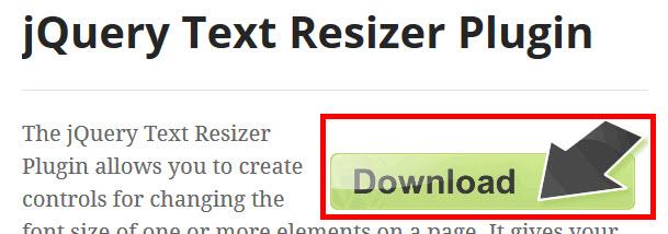 jQuery Text Resizerのダウンロード