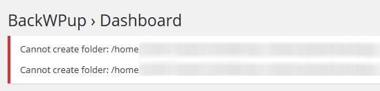 BackWPupで「Cannot create folder:」エラー