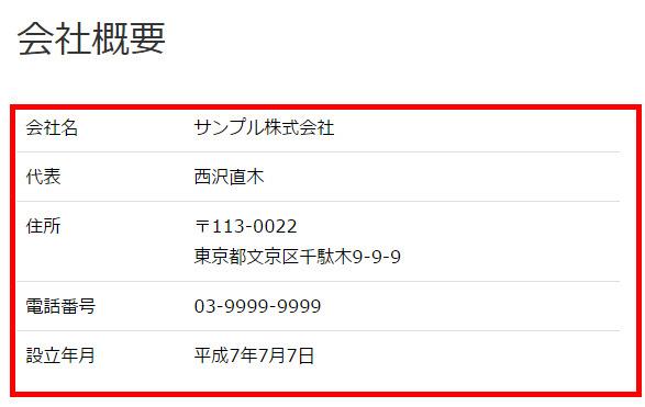 賢威7にTablePressで作った表を入れたイメージ