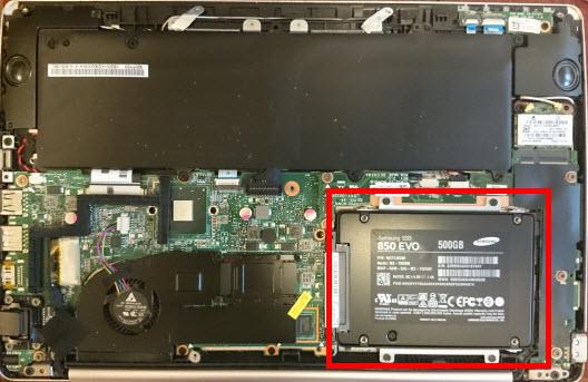 HDDからSSDへの交換完了