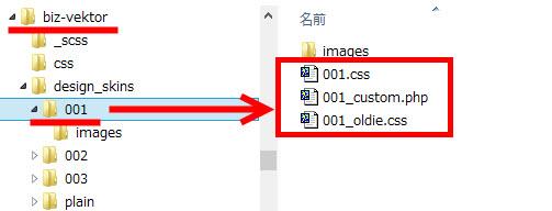 BizVektorの静的/動的CSSファイルの構成