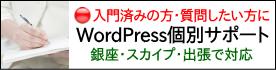 銀座・スカイプ・出張対応のWordPress個別サポートです。
