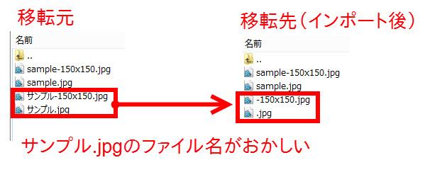 サンプル.jpgが正しくインポートできていない