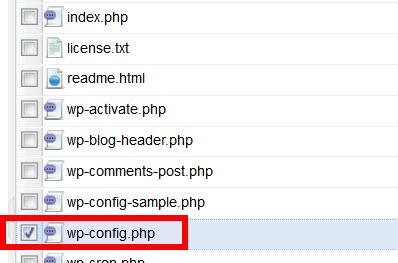 wp-config.phpを見つける